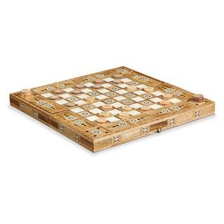 Handmade Traditional Mosaic Wood Checkers or Backgammom Set (Lebanon)