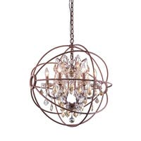 Royce Edge Rustic Intent Metal 6-light Chandelier