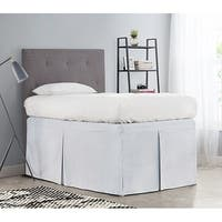 Tailored Dorm Sized Bed Skirt - Glacier Gray