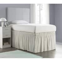 Ruffled Dorm Sized Bed Skirt - Silver Birch
