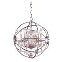 Royce Edge 4-Light Polished Nickel Pendant