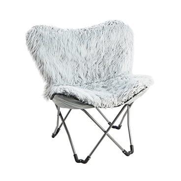 Imitation Fur Chair - Glacier Gray