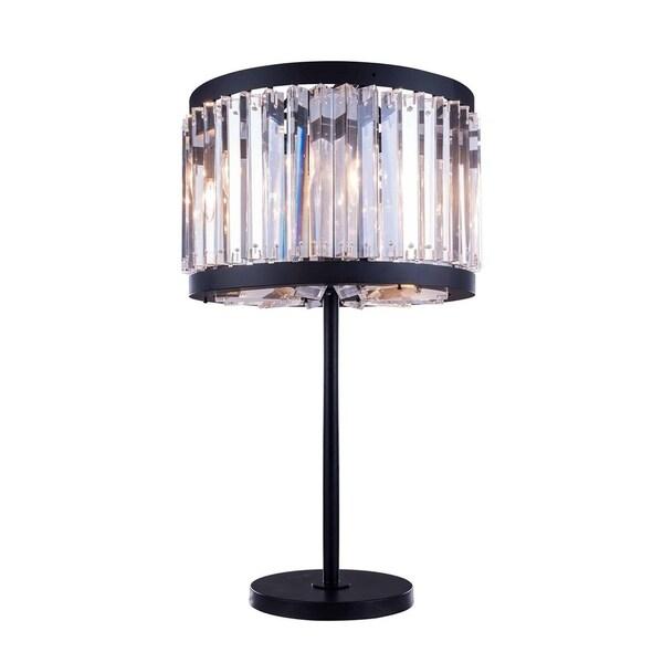 Royce Edge 4 light Matte Black Table Lamp