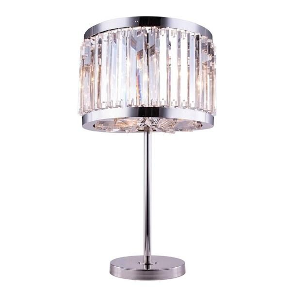 Royce Edge 4 light Polished nickel Table Lamp
