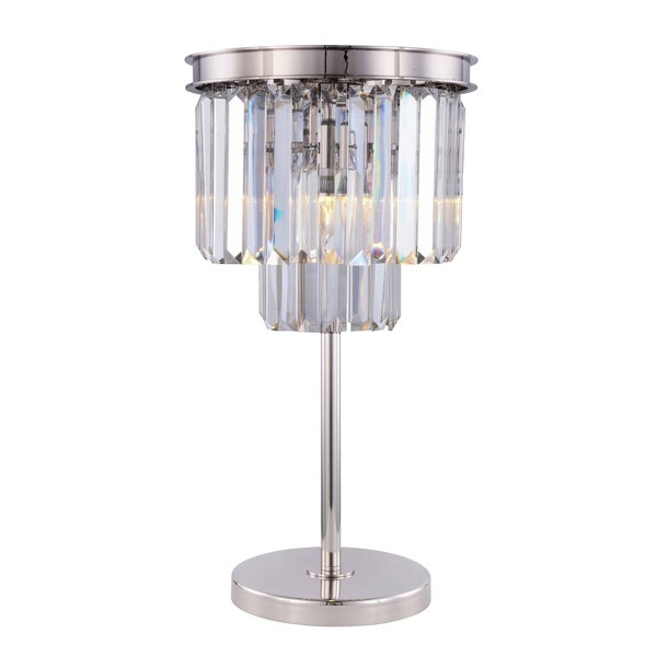 Royce Edge 3 light Polished nickel Table Lamp