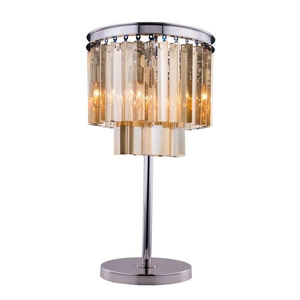 Royce Edge 3 light Polished nickel Table Lamp
