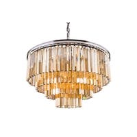 Royce Edge 17-Light Polished Nickel Chandelier