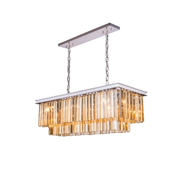 Royce Edge 12-Light Polished Nickel Chandelier