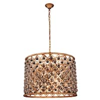 Royce Edge Gold-tone Iron-finish/Clear Steel/Royal-cut Crystal 8-light Chandelier