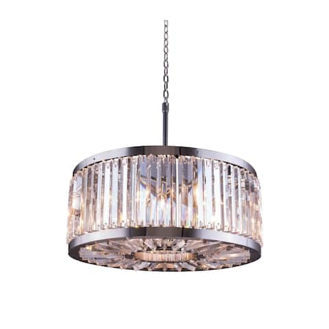 Royce Edge 8-Light Polished Nickel Chandelier