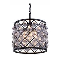 Royce Edge 3-Light Matte Black Pendant - matte black (royal cut clear crystals)