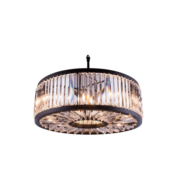 Royce Edge Matte Black Steel 10-light Chandelier