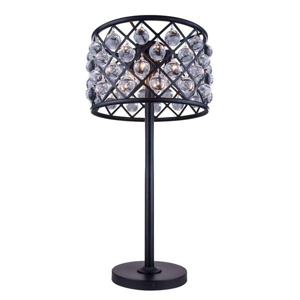 Royce Edge 3 light Matte Black Table Lamp