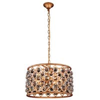 Royce Edge 6-Light Golden Iron Pendant
