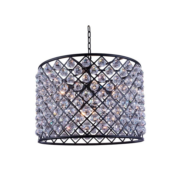 Royce Edge 8-Light Matte Black Chandelier