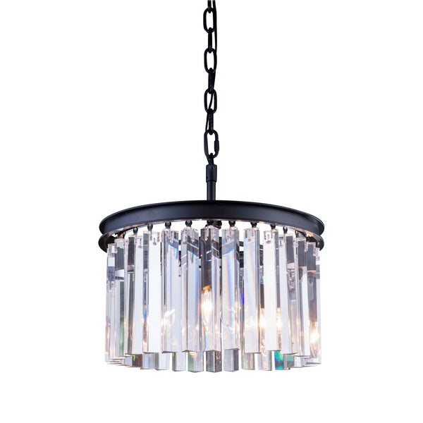 Royce Edge 3-Light Matte Black Pendant