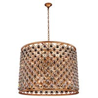 Royce Edge Goldtone Iron Steel 12-light Chandelier