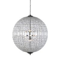 Royce Edge Dark Bronze Steel 8-light Chandelier With Royal Cut Clear Crystals