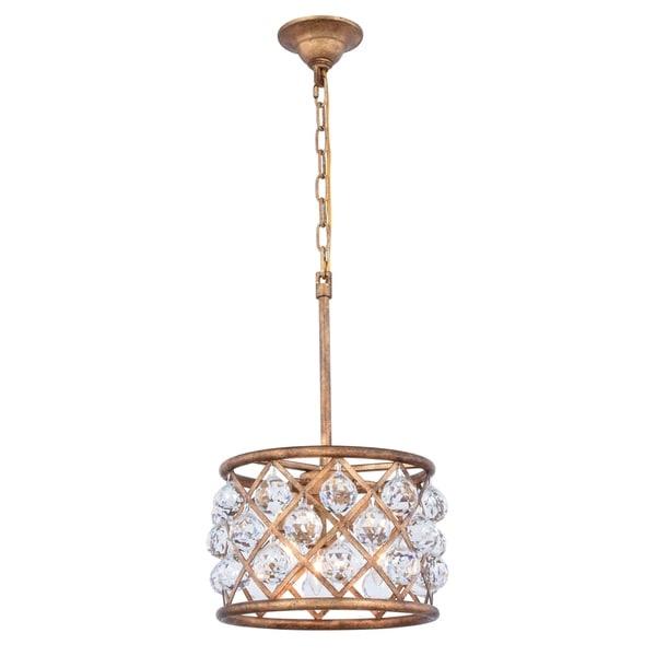 Royce Edge 3-Light Golden Iron Pendant