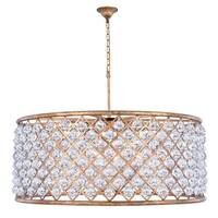 Royce Edge 10-Light Golden Iron Chandelier