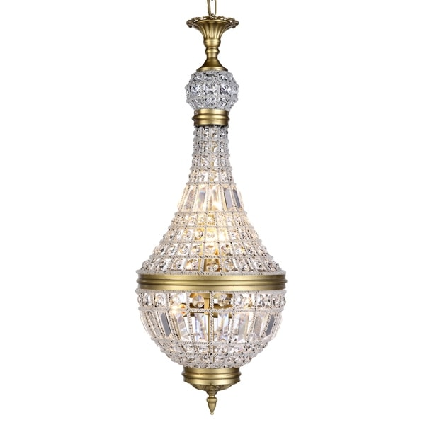 Royce Edge 6-Light French Gold Pendant - french gold (royal cut clear crystals)