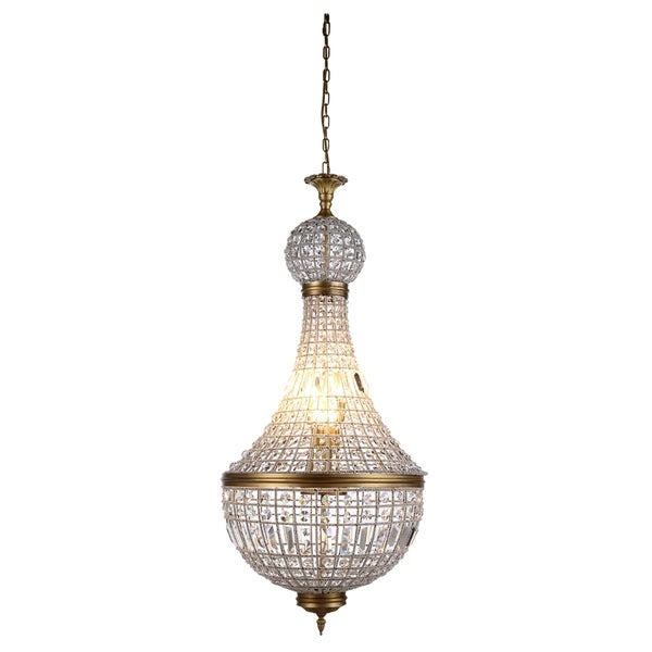 Royce Edge 8-Light French Gold Pendant - french gold (royal cut clear crystals)