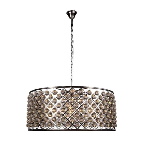Royce Edge 10-Light Polished Nickel Chandelier