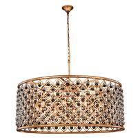 Royce Edge 10-Light Golden Iron Chandelier - golden iron (royal cut clear crystals)