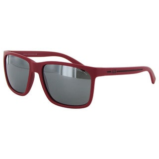 Armani Exchange AX4041S Mens Matte Red Frame/Silver Mirror Lens Rectangular Sunglasses