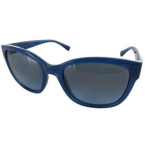 Armani Exchange AX4046S Womens Blue Frame/Grey Lens Fashion Sunglasses