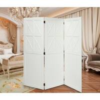 Layken Valley White Tri-Fold X Privacy Screen