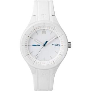 Timex TW5M17400 Ironman Essential Urban 38mm White/Blue Silicone Strap Watch - WHITE