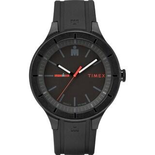 Timex TW5M16800 Ironman Essential Urban 42mm Black/Red Silicone Strap Watch - black