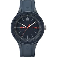 Timex TW5M17000 Ironman Essential Urban 42mm Navy/Red Silicone Strap Watch - BLue
