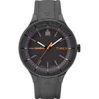 Timex TW5M16900 Ironman Essential Urban 42mm Gray/Orange Silicone Strap Watch - grey