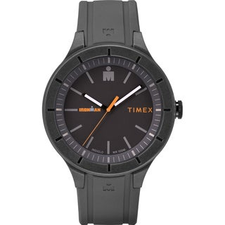 Timex TW5M16900 Ironman Essential Urban 42mm Gray/Orange Silicone Strap Watch - grey