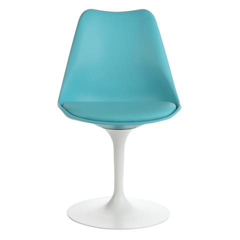 Handmade Mid-Century Modern Tulip Swivel Chair, Light Teal (China)