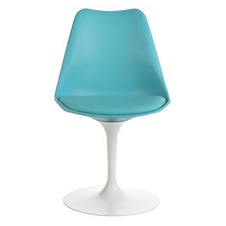 Handmade Mid-Century Modern Tulip Swivel Chair, Light Teal (China)