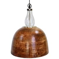 "Wooden Glass Dome 12"" Pendant Light by Kauri Design"