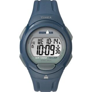 Timex Men's TW5M16500 Ironman Essential 10 Navy/Gray Resin Strap Watch - BLue