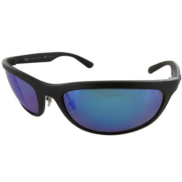 2f0636dd4c8 Ray Ban RB4265 Chromance Mens Black Frame Blue Mirror Lens Polarized  Sunglasses