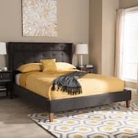 Carson Carrington Lappo Mid-century Grey Fabric Platform Bed