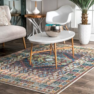 nuLOOM Classic Antique Styling Ornate Multi Area Rug - 4' x 6'