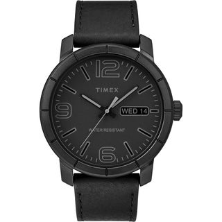 Timex Men's TW2R64300 Mod 44 Black Leather Strap Watch