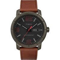 Timex Men's TW2R64000 Mod 44 Brown/Black Leather Strap Watch