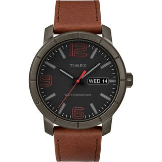 Timex Men's TW2R64000 Mod 44 Brown/Black Leather Strap Watch
