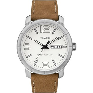 Timex Men's TW2R64100 Mod 44 Tan/White Leather Strap Watch