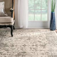 Maison Rouge Imrani Traditional Distressed Persian Vintage Grey Area Rug - 10' x 14'