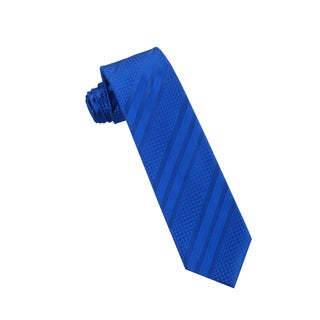 Men's Fashion Microfiber Necktie, Blue Stripes Pattern