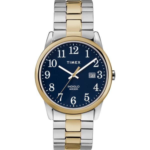 Timex Men's TW2R58500 Easy Reader Two-Tone Stainless Steel Expansion Band Watch. Opens flyout.